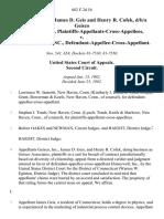 Geisco, Inc., James D. Geis and Henry R. Cofek, D/B/A Geisco Associates, Inc., Plaintiffs-Appellants-Cross-Appellees v. Honeywell, Inc., Defendant-Appellee-Cross-Appellant, 682 F.2d 54, 2d Cir. (1982)