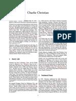 Charlie Christian Biography