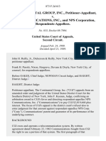 The Continental Group, Inc. v. Nps Communications, Inc., and Nps Corporation, 873 F.2d 613, 2d Cir. (1989)