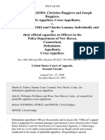 Deborah Ruggiero, Christine Ruggiero and Joseph Ruggiero, Cross-Appellants v. Anthony Krzeminski and Charles Lemons, Individually and in Their Official Capacities as Officers in the Police Department of New Haven, Connecticut, Defendants- Cross-Appellees, 928 F.2d 558, 2d Cir. (1991)