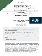 62 Fair empl.prac.cas. (Bna) 151, 61 Empl. Prac. Dec. P 42,277 Erwin J. Spence, Jr. v. Maryland Casualty Company, American General Corporation, Thomas K. Fitzsimmons, and William B. Loden, 995 F.2d 1147, 2d Cir. (1993)