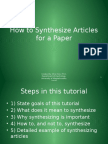 How to Synthesize Articles for a Paper_tcm18-117649.pptx
