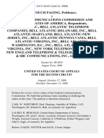 Airtouch Paging v. Federal Communications Commission and United States of America, Us West, Inc., Bell Atlantic Telephone Companies, Bell Atlantic-Delaware, Inc., Bell Atlantic-Maryland, Bell Atlantic-New Jersey, Inc., Bell Atlantic-Pennsylvania, Bell Atlantic-Virginia, Inc., Bell Atlantic-Washington, D.C., Inc., Bell Atlantic-West Virginia, Inc., New York Telephone Company & New England Telephone & Telegraph Company & Sbc Communications, Inc., Intervenors, 234 F.3d 815, 2d Cir. (2000)