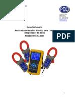 Manual PCE PA8000