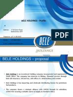 Bele Holdings - COMPANY PROFILE - 25 AUGUST 2015.pdf