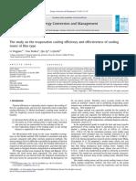 Energy Conversion and Management Volume 52 Issue 1 2011 [Doi 10.1016%2Fj.enconman.2010.06.036] Yingjian Li; Xinkui You; Qi Qiu; Jiezhi Li -- The Study on the Evaporation Cooling Efficiency and Effecti
