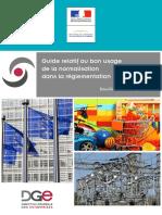 Guide Pratique Du Bon Usage de La Normalisation Dans La Reglementation