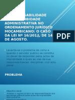 A RESPONSABILIDADE POR IMPROBIDADE ADMINISTRATIVA NO ORDENAMENTO JURÍDICO.ppt