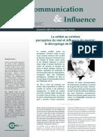 Communication&Influence Octobre 2014 Michel Goya Combat Perception Influence
