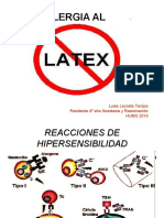 Alergia Al Latex en Anestesia