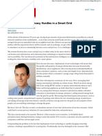 Overcoming Data Privacy Hurdles in a Smart Grid