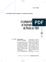 La Vanguardia Frente Al Frustrado Retorno de Perón en 1964 de Claudio Panella
