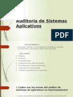 Auditoria de Sistemas Aplicativos
