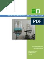 Lixiviación de Minerales Por Agitación y Percolación