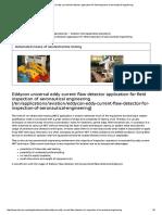 Eddycon Universal Eddy Current Flaw Detector Application for Field Inspection of Aeronautical Engineering