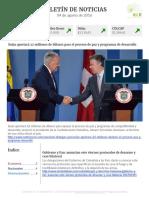 Boletín de noticias KLR 04AGO2016