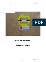 1 Backcharge Procedure