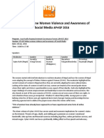Report on Online Women Violence and Awareness of Social Media APrIGF2016