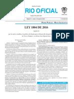 Diario oficial de Colombia n° 49.953. 02 de agosto de 2016