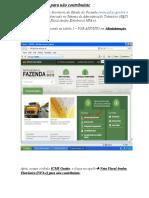 MANUAL da NFA-e para não contribuinte - ultima versão.doc
