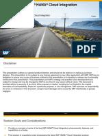 What's New in SAP HANA® Cloud Integration