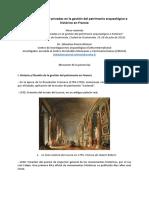 Las alianzas público-privadas en la gestión del patrimonio arqueológico e histórico en Francia