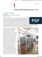 Short Circuit Current Duties of Circuit Breakers and Fuses — Part 2