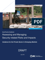 IFC Security Forces Handbook External Review Draft August 4 2016