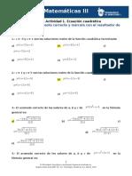 MIII – U1 – Actividad 1. Ecuación cuadrática -Matemáticas III.docx