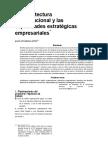 Arquitectura Organizacional y Las Capacidades Estrategicas Empresariales