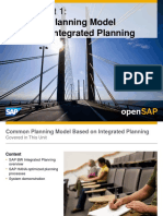 OpenSAP BWHANA1 Week 4 Planning and Lifecycle Management
