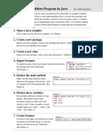 technical documentation java