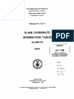 Plane Coordinate Intersection Tables--Iowa