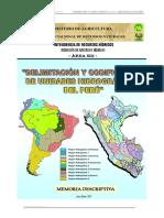 2007 Delimit y Codific Unidades Hidrográficas Perú, Resumen