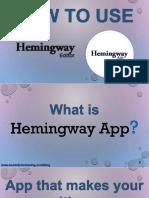 How to Use Hemingway Editor