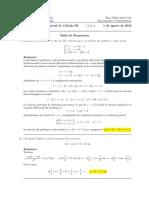 Segundo parcial Cálculo III, 1 de agosto de 2016