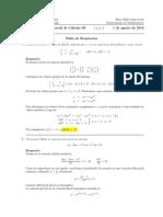 Segundo parcial Cálculo III, 1 de agosto de 2016 (tarde)