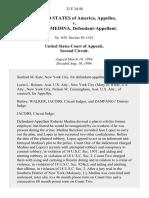 United States v. Roberto Medina, 32 F.3d 40, 2d Cir. (1994)