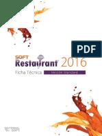 Ficha Tecnica Soft Restaurant 9 Standard