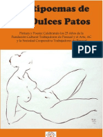 Frutipoemas de los Dulces patos poemario sobre la Cooperativa Pascual con ilustraciones de artistas del Taller de Grafica Popular y el Salon de la Plastica Mexicana
