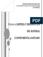 """Unidad 4.- Limpieza y Desinfecciã""""n Del Material e Instrumental Sanitario (1)"""