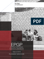 EPGP Placement Brochure for IIM Banglore