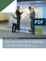 Siemens Power Academy Broucher and Catalog