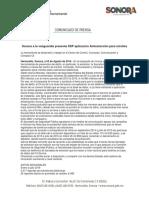 03/08/16 Sonora a la vanguardia presenta SSP aplicación Antiextorsión para móviles -C.081608