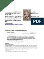 Einstein to Gandhi
