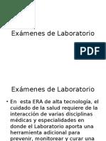 8 Exámenes de Laboratorio