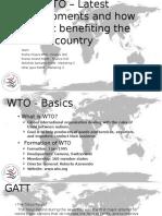 WTO - Latest Developments