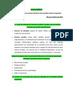 Informe NUPELA Actores Sociales Argentina