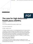 The Case for High Deductible Health Plans (HDHPs) - Dental Economics