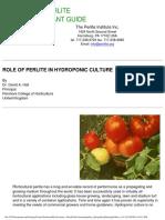Perlite Role Hydroponic Culture